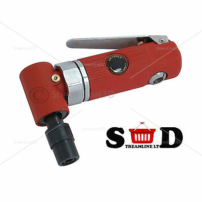 "Pro 1/4"" Mini 90 Degree Head 2 CFM 20,000 RPM Angle Air Die Grinder Cutter 1085"