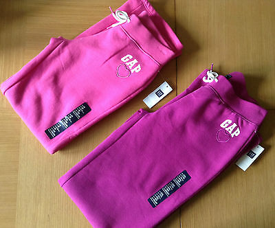 Girl's Gap LOGO bottoms/sweatpants - HAPPY PINK, ELECTRIC FUCHSIA - 8-13Y - NEW