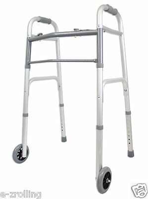 """Carex Classics Dual Button with 5"""" Wheels Foldable Walker"""