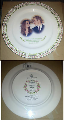 Prince William Kate Engagement Plate 20cm Royal Doulton Nov 16 2010 Bone China