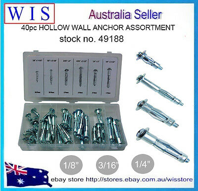 Hollow Wall Anchor Molly Bolt Fixing Plaster Plasterboard Wall Cavity Plug Screw