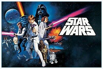 "Star Wars LAMINATED POSTER ""A New Hope Skywalker Vader Leia Solo"" NEW Licensed"