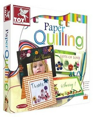 Toy Kraft Create w Paper Decoration Quilling! Children's Creative Craft Kit Set!