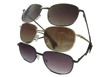 Sun Readers Metal Framed Spring Hinges Aviator Style Tinted Reading Glasses 614