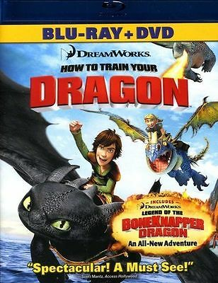 How to Train Your Dragon (Blu-ray Disc, 2013, 2-Disc Set)-NEW
