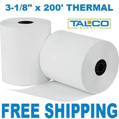 "CLOVER PoS 3-1/8"" x 220' THERMAL RECEIPT PAPER - 10 NEW ROLLS  *FREE SHIPPING*"