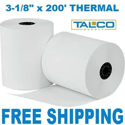 "CLOVER PoS 3-1/8"" x 220' THERMAL RECEIPT PAPER - 50 NEW ROLLS  *FREE SHIPPING*"