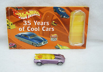 2003 HOT WHEELS 35 YEARS OF COOL CARS BOOK W/HIGHWAY 35 WHIP CREAMER II NEW 1:64