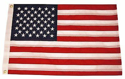 """12x18 Yacht Boat Ensign Nautical US USA American Flag Embroidered 2ply 12""""x18"""""""