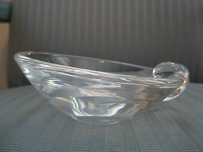 STEUBEN AMERICAN ELEGANT CLEAR GLASS PIN DISH BOWL AN ESTATE FIND