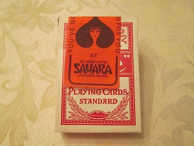 Del Webb's Hotel Sahara Las Vegas Casino Official Used Red Bee Playing Cards