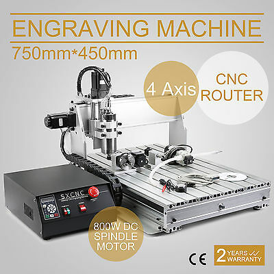 4 Axis cnc woodworking milling machine router drill cutting ENGRAVING 6040 AU