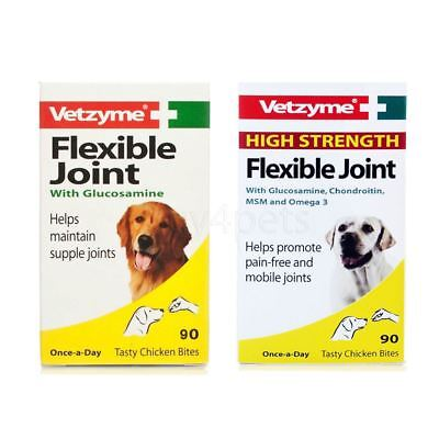 Vetzyme Joint Tablets for Dog, High Strength Flexible Joint Capsules 30, 90, 270