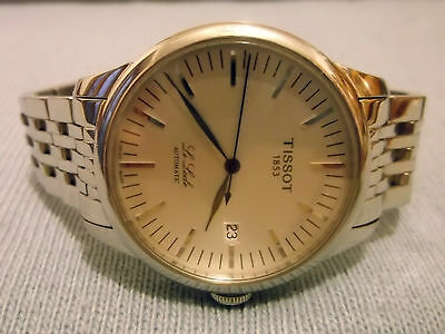 TISSOT LE LOCLE MM.39,5 ACCIAIO, AUTOM.25 RUBINI SWISS. REF. N°oks.ha.22424