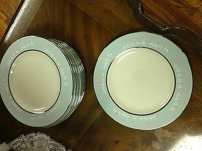 """Beautiful Vintage Nancy Prentiss """"Foxhall"""" China-Lot of 8 Luncheon Plates-1962"""