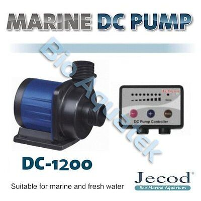 Jecod Jebao Variable Flow DC-1200 DC Aquarium Return Pump & Controller 1000 LPH