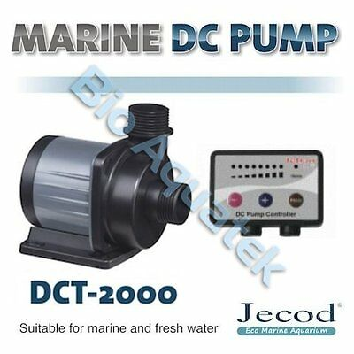 Jecod Variable Flow DCT-2000 DC Aquarium Return Pump & Controller - 2000 LPH