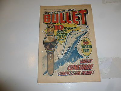 BULLET Comic - Issue 13 - Date 08/05/1976 - UK Comic which has punch holes in it