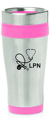 Stainless Steel Insulated 16oz Travel Mug Cup Licensed Practical Nurse LPN