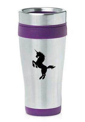 Stainless Steel Insulated 16oz Travel Mug Coffee Cup Unicorn