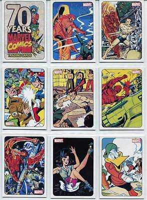 70 Years of Marvel Comics Trading Card Set  Rittenhouse Archives 72 Cards 2010