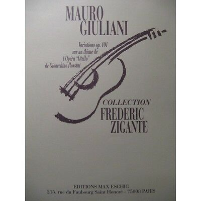 GIULIANI Mauro Variations op 101 Guitare 1994  Partition Sheet Music Spartiti Pa