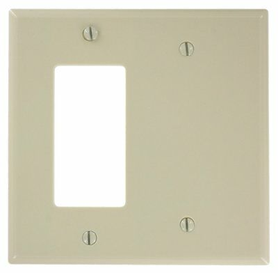 (10 pc lot) 2-Gang Wall Plate Cover Ivory Decorator Blank Lexan Unbreakable