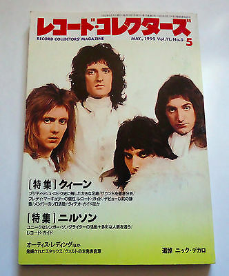 QUEEN RECORD COLLECTORS MAGAZINE JAPAN 05/1992 Freddie Mercury Harry Nilsson