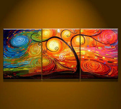 YHZW99  FANCY Modern Abstract tree Art drawing room Oil Painting on canvas