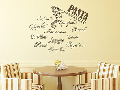 wandtattoo k che wandsticker spr che pasta nr 1. Black Bedroom Furniture Sets. Home Design Ideas
