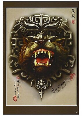 China Tattoo Vorlagen Flash Book Buch Tätowierungen DIN A3 Tianshu 120 Seiten