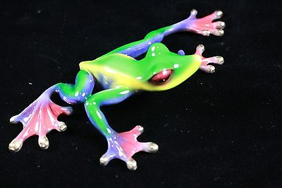 Bronze Frog Sculpture by Barry Stein - SLIDER - 2006 Limited Edition 19 / 1000