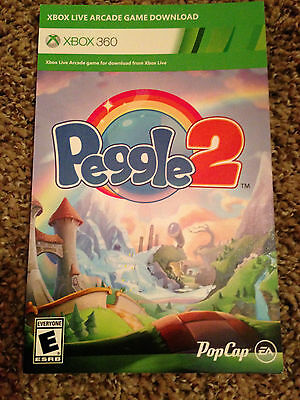 Peggle 2 Xbox 360 Full Game Download Card Code! **FAST EMAIL DELIVERY** Same Day