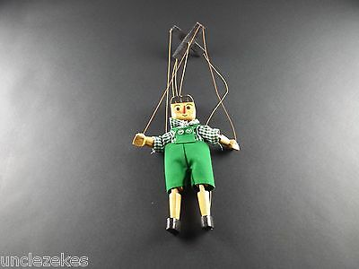 Pinocchio Marionette Vintage Wooden String Puppet Hand Made