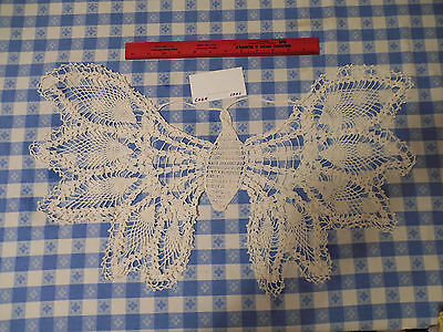 Vintage Crocheted Doily Butterfly White  # 1201