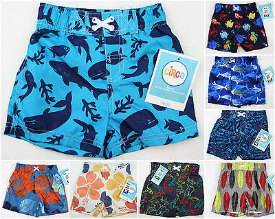 NEW Baby Boy's Swim Trunks Suit Board NWT Size 9M 12M Month Blue Shorts