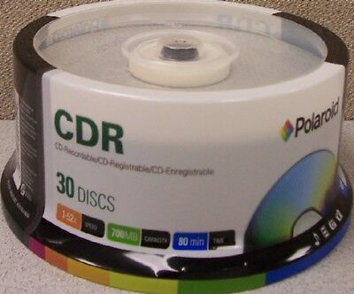 Blank CD-R80 (52X) 700mb Polaroid CD Discs in Spindles in 120 Lot (C1-1142P30)