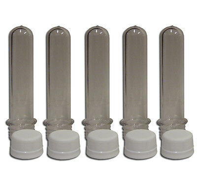 5col Cache Tube 5-pack: Clear Waterproof Storage Container Fire/Survival Kit