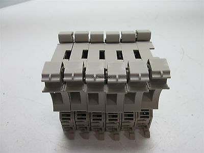 Lot of 6 Weidmuller WSI 6/2 GZ/DEF63 Fuse Holder