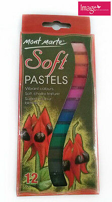 Pack of 12 Mont Marte Soft Pastels MMPT0004