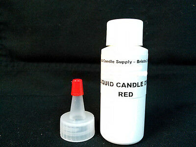 1oz RED LIQUID CANDLE DYE EVO FOR SOY WAX CANDLE MAKING SUPPLIES