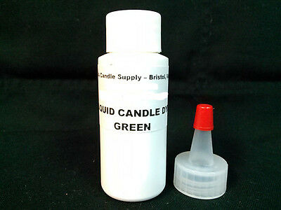 1oz GREEN LIQUID CANDLE DYE EVO FOR SOY WAX CANDLE MAKING SUPPLIES