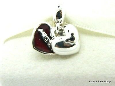New/tags  Authentic Pandora Silver Charm Disney, Mickey And Minnie #791441Nck