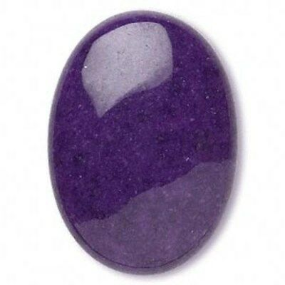 Royal Purple Mountain Jade 25x18mm Domed Oval Gemstone Cabochon