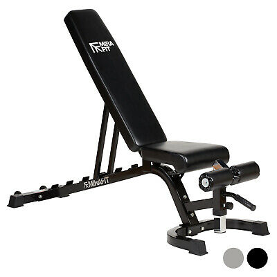 MIRAFIT Adjustable FID Flat/Incline/Decline Weight Bench Dumbbell/Barbell/Gym