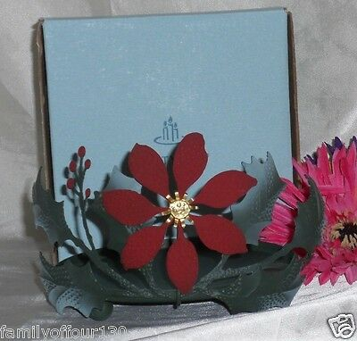 Partylite Rare Retired Poinsettia Candle Holder