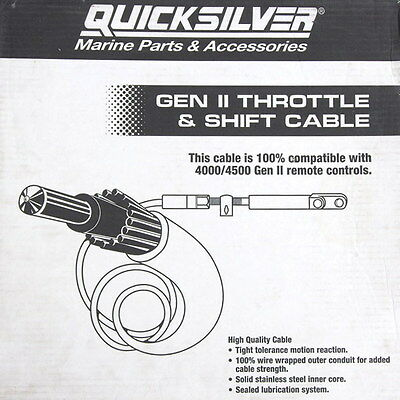 NEW genuine Mercury (Quicksilver) Gen II Throttle/Shift cable 15ft - 883719A15