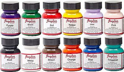 (type A)Angelus Leather Paint Starter Kit 1 Set of 12 bottles-1oz bottles