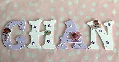 Personalised Girls Wooden Letter Door Wall Decor Any Theme FROZEN DOC MCSTUFFINS