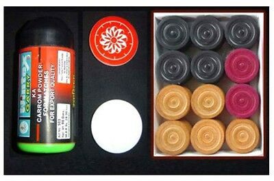 Carrom Board Set With Coins + Striker + Powder